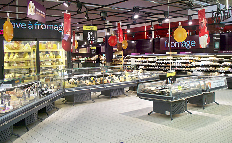 Rayon fromages Carrefour Tourville